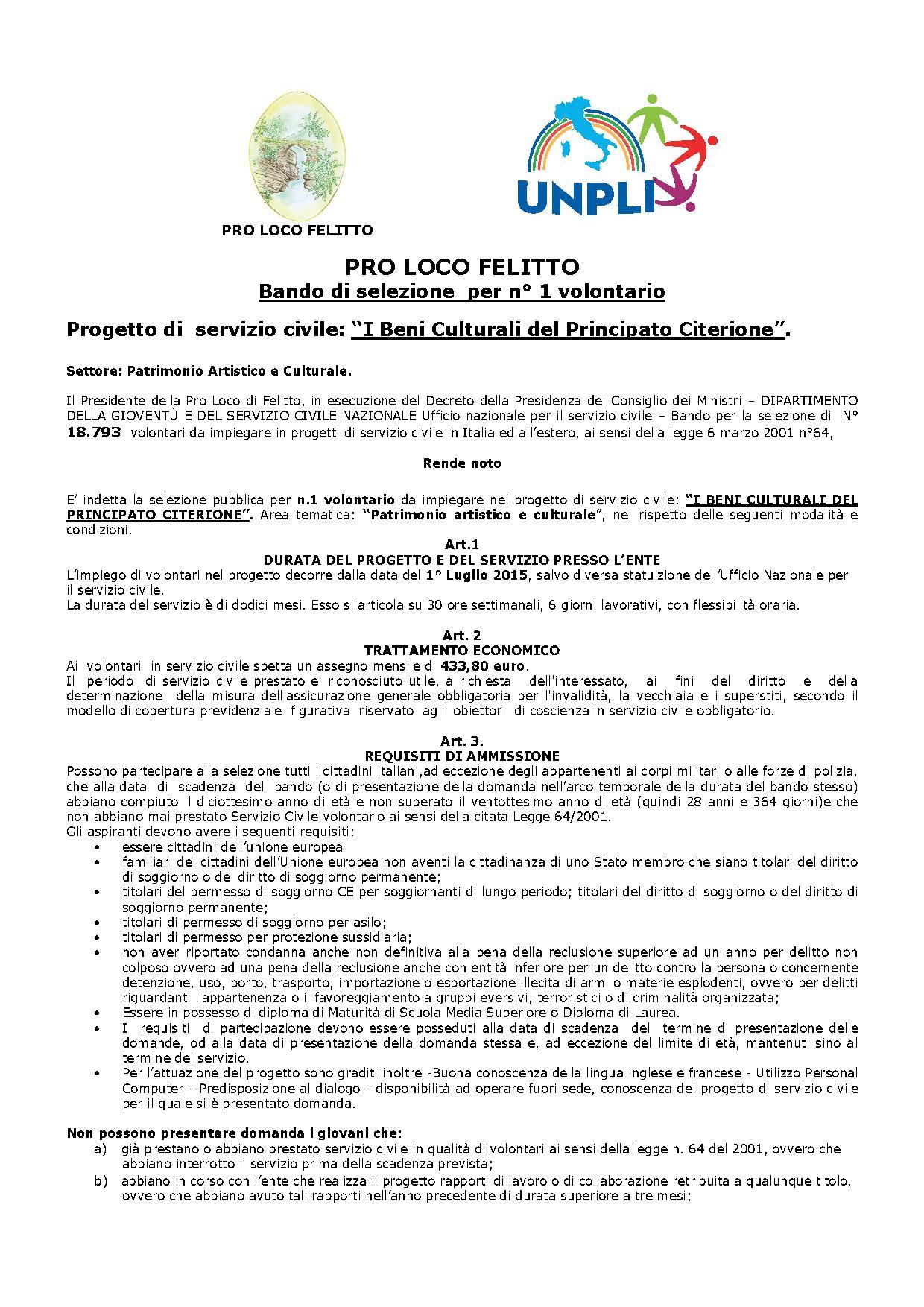 Bando-servizio civile Felitto2015 parte1