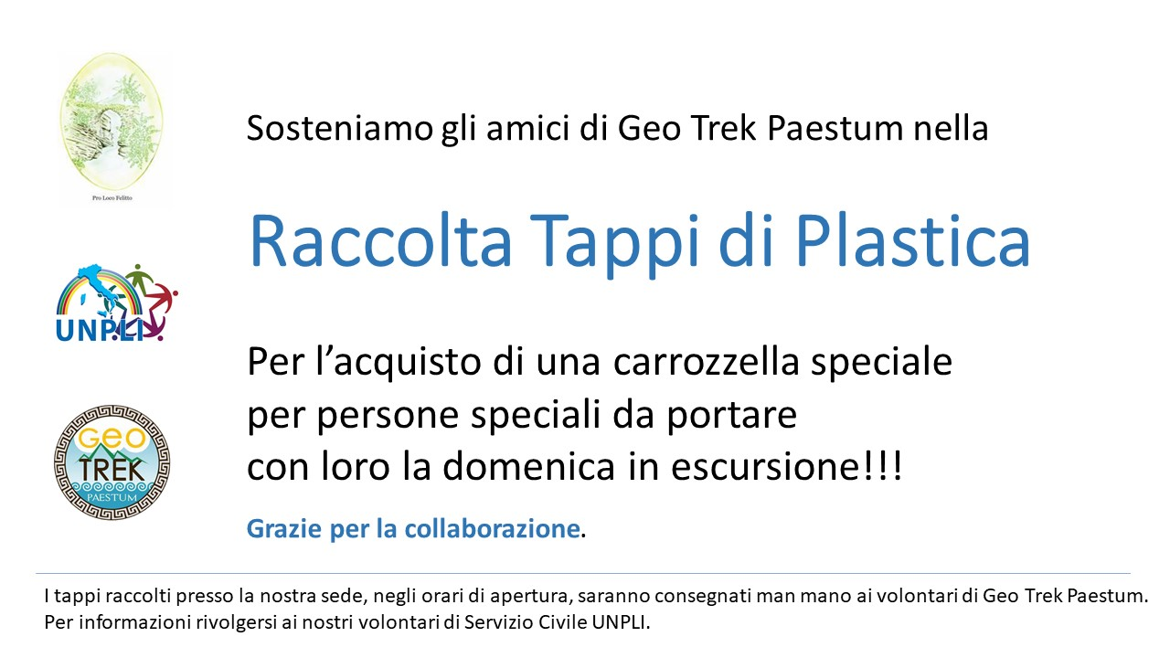 raccolta tappi Geo Trek Paestum